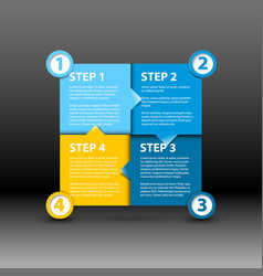 One two three four - paper progress steps vector