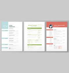 Personal resume template artistic profile vector