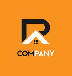 Real estate construction r a letter logo vector