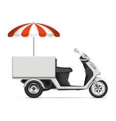 realistic food cart vector image