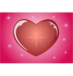 Romantic red heart which symbolizes the loveEps10 vector
