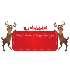 Rudolph Reindeer Christmas Banner vector image