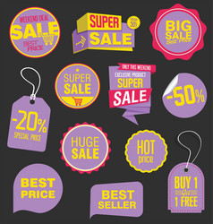 Sale stickers and tags collection 5 vector