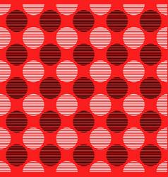 seamless geometric circle pattern background vector image