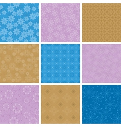 set of light seamless pattern vector image
