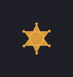 Sheriff star computer symbol vector