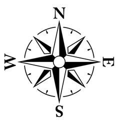 simple compass windrose icon vector image