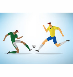 soccer players 08 vector image