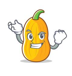 Successful butternut squash character cartoon vector