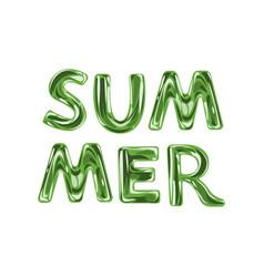 summer lettering green vector image