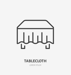 Tablecloth flat line icon dining room sign vector