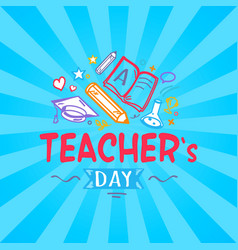 Teachers day promo poster vector