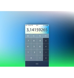 template of mobile calculator interface form vector image