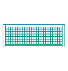 tennis grid rope line sport icon vector image