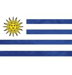 True proportions Uruguay flag with texture vector