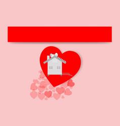 valentine day heart white concept design art vector image