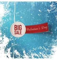 Valentines Day Big Sale Label vector