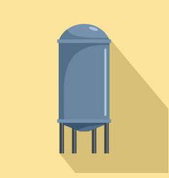 water tank icon flat style vector image