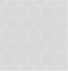 white honeycomb graphic seamless pattern over gray vector image