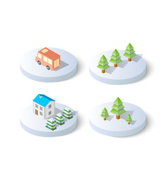 winter snowy christmas icon vector image