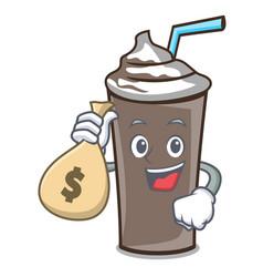 With money bag ice chocolate character cartoon vector