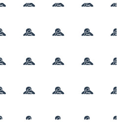 woman in spa icon pattern seamless white vector image