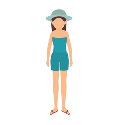 woman wearing summer clothes vector image