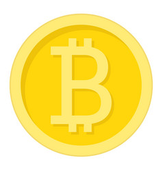 bitcoin coin flat icon business and finance vector image