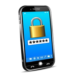 Cell Phone Locked Unlock Code vector image vector image