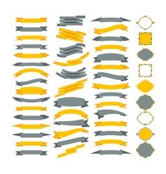 Collection of design elements Big set of frames vector image vector image