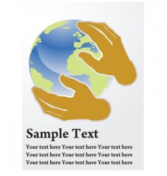 earth care vector image vector image