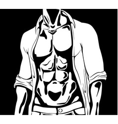 graphic athletic man vector image