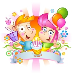 Happy birthday Congratulations vector image vector image