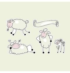 Happy Sheep vector image vector image