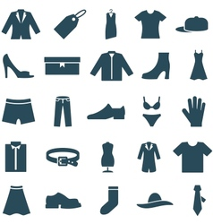 Set icons clothes and accessories vector image vector image