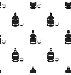 whiskey icon in black style isolated on white vector image