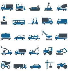 icons of construction and trucking industry vector image vector image