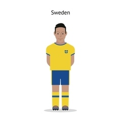 Football kit Sweden vector image vector image