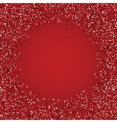 Glitter red round frame vector image vector image