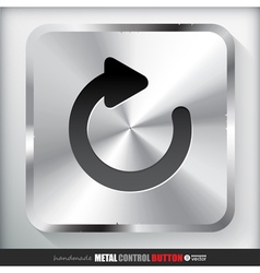 Metal Reload Button Applicated for HTML and Flash vector image
