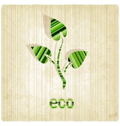 eco striped old background vector image vector image