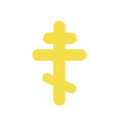 golden eight-pointed cross symbol of orthodox vector image