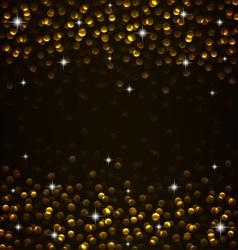 Golden glow vector image