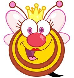 Queen Bee Cartoon Mascot Character vector image