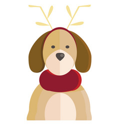 a dog with animal costume or color vector image