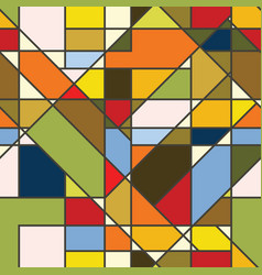 Abstract color seamless patchwork wallpaper vector