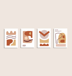 abstract shapes composition poster collection vector image