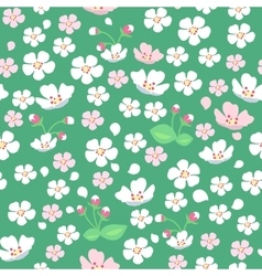 Apple Tree Flowers Seamless Pattern vector