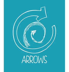 Arrow design vector