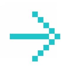 Arrow icon direction digital sign pointer button vector image